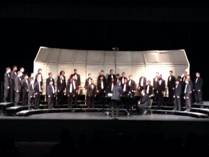 Combined Men's Choir at District MPA
