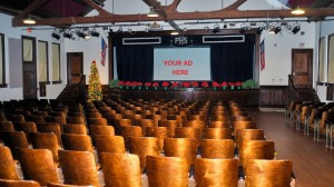 This is not a photo of our actual auditorium