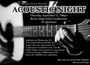 Acoustic Night 2015 Poster