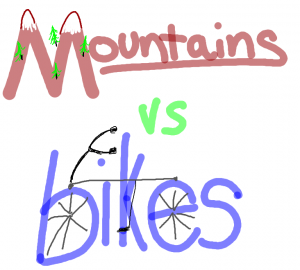 mountains vs bikes