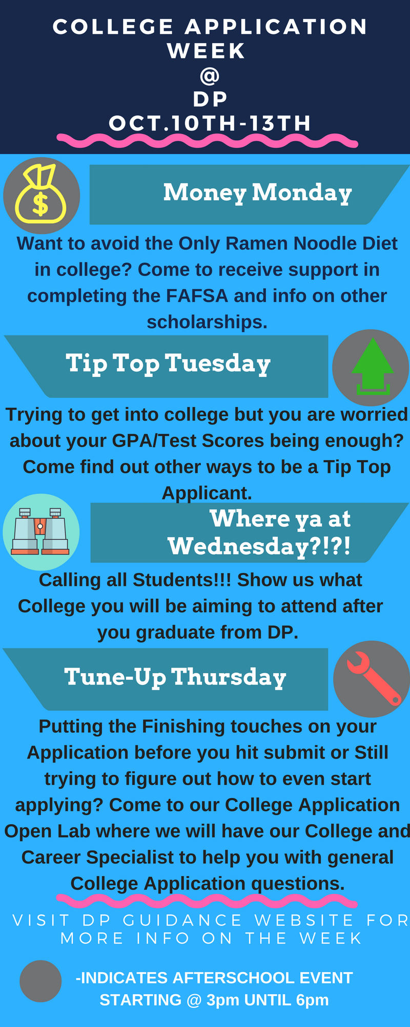 college application week   dp  u2013 dr  phillips guidance