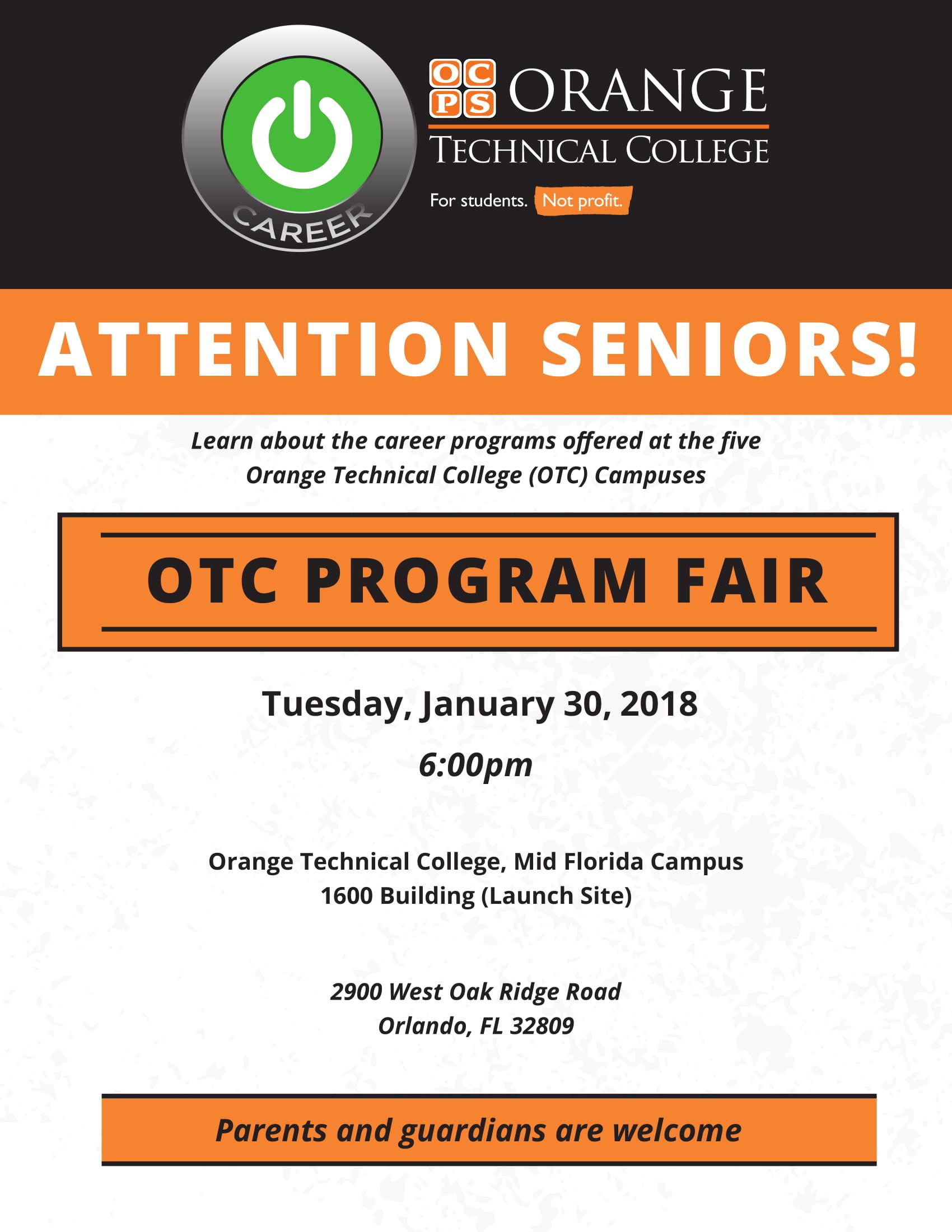 Orange Technical College Program Fair Dr Phillips Guidance