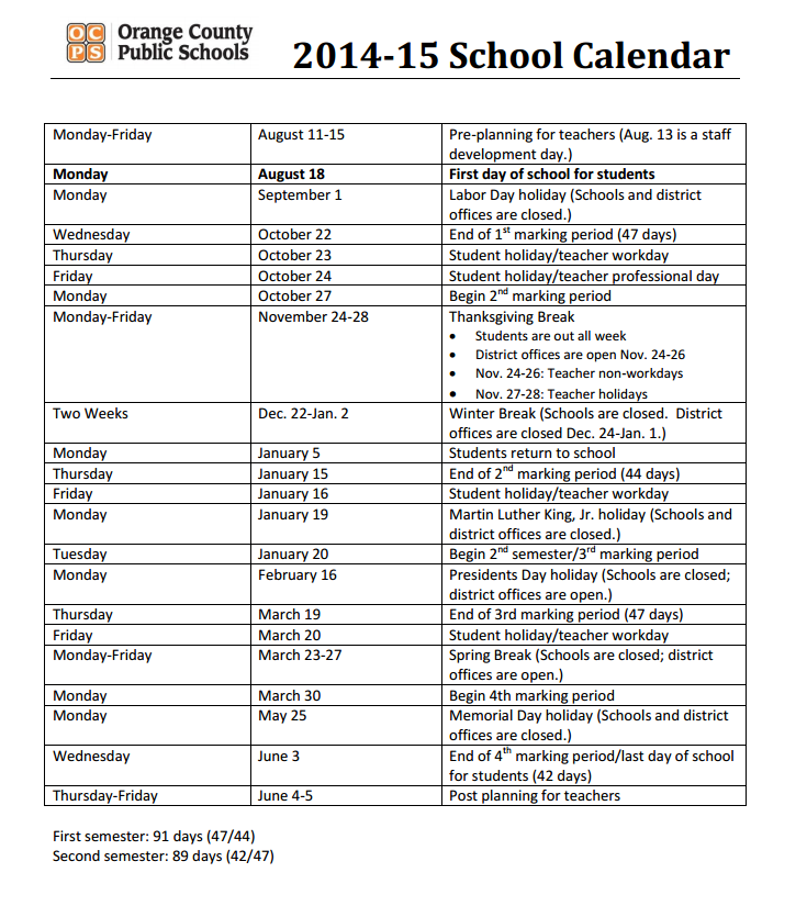 735 x 825 png 201kB, OCPS Calendar | Hillcrest 4th Grade French ...