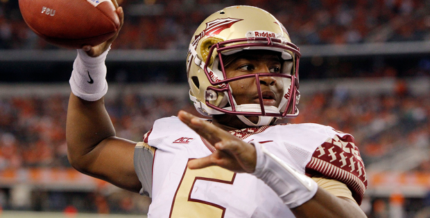 EXPLICATIVE, EXPLICATIVE. Jameis Winston is suspended for Saturday's game against Clemson University for the first half due to shouting an explicative in the student union at FSU.