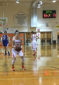 MONEY SHOT. Freshman Madeline Morales makes a free throw. photo/ Caroline Casola