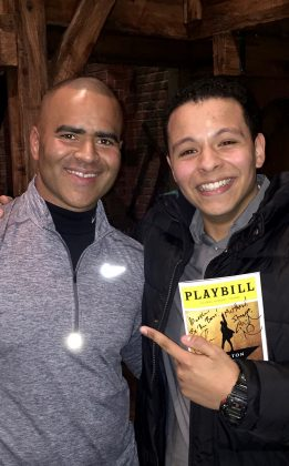 With Christopher Jackson at Hamilton play