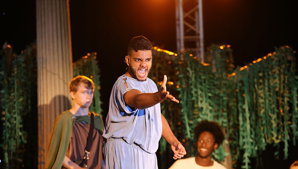 Student performs for A Midsummer Night's Dream