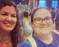 Beth and Robin take a selfie at National Debate Championship