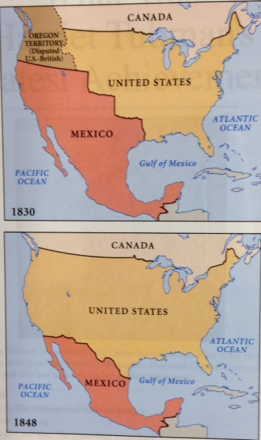 Mexican American War Essay - Us map with mexico before