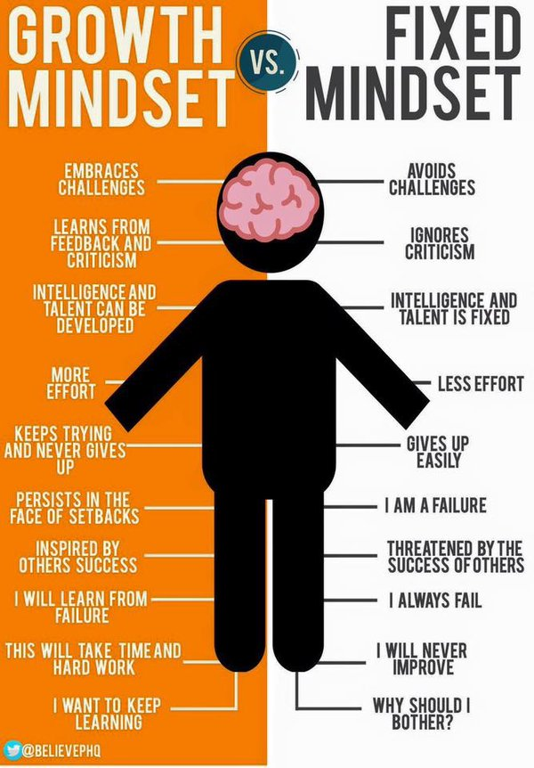 Image result for fixed vs growth mindset images