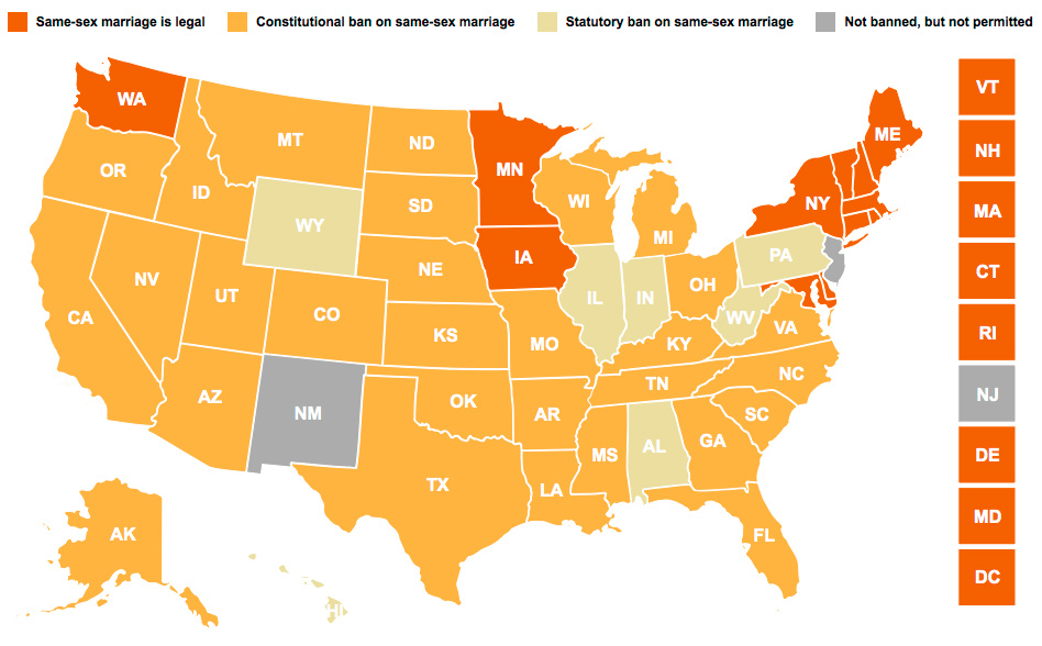 States With Legalized Same Sex Marriage 117